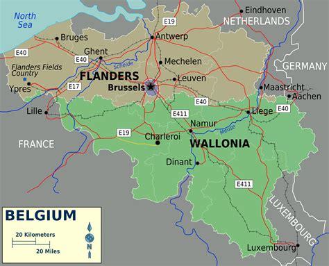 belgiam map belgium map size