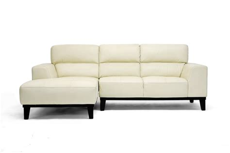cream sectionals jacena cream leather modern sectional sofa