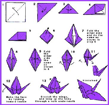 Folded Paper Birds - the damn birds 1 000 origami cranes anything but not