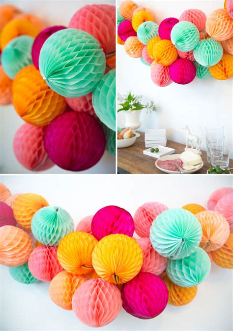 diy decorations garland honeycomb garland diy