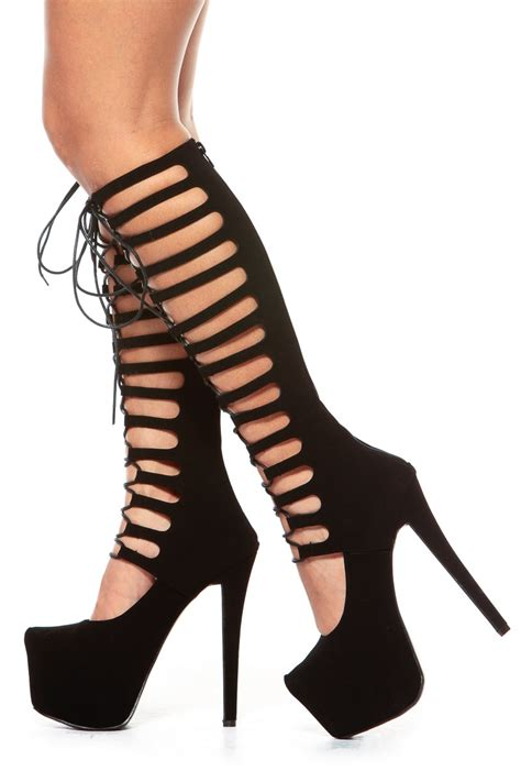 Heels Gladiatorplatform Heels Tali glaze black gladiator lace up platform heels cicihot heel shoes store sales stiletto