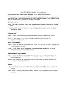 Reference Sle Resume by Reference List Template 6 Free Templates In Pdf Word