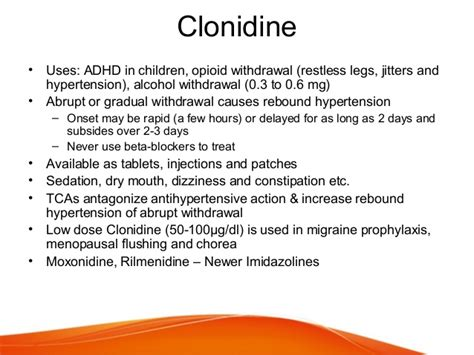 Using Clonidine For Detox by Report