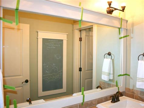frame large bathroom mirror how to frame a mirror hgtv