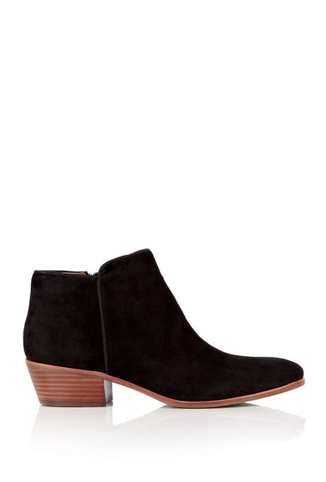 sam edelman ankle boots sam edelman black petty flat suede ankle boot in black lyst