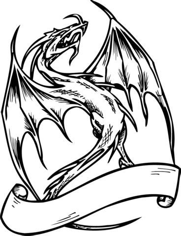 coloriage dragon avec la banni 232 coloriages 224 imprimer gratuits