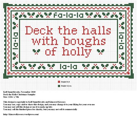 What Does Deck The Halls by Deck The Halls Sler Kincavel Krosses