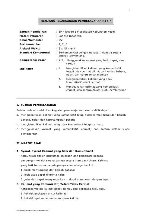 rpp berkarakter smp mts dan download gratis silabus download rpp bahasa indonesia smp berkarakter kelas 7 8
