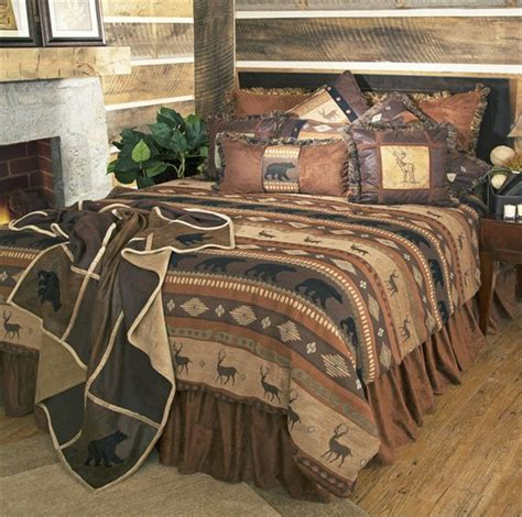 cabin style comforter sets luxury rustic bedding and cabin bedding