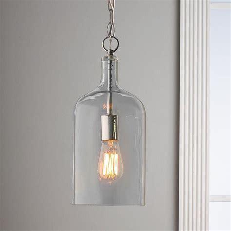 Glass Jug Pendant Lights Glass Jug Pendant Light