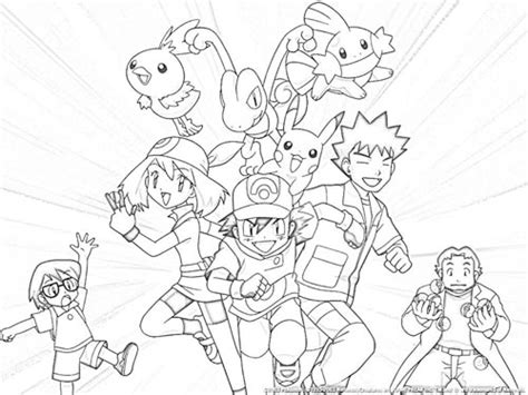 pokemon trainer coloring pages free coloring pages of trainers