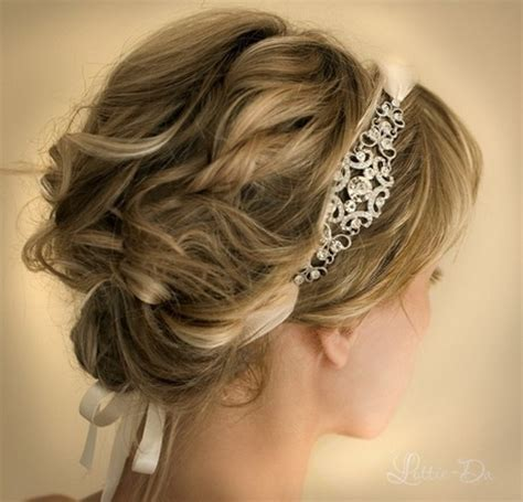 wedding hairstyles using a headband prom hairstyles with headband
