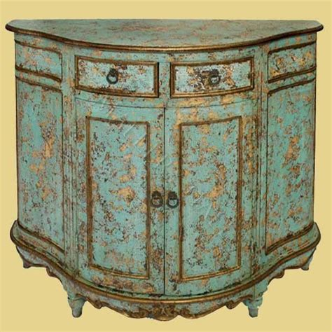 Distressed Turquoise Furniture by Turquoise Distressed Cabinet Painted Furniture