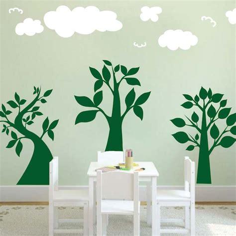 trendy wall design three lil trees wall art design trendy wall designs