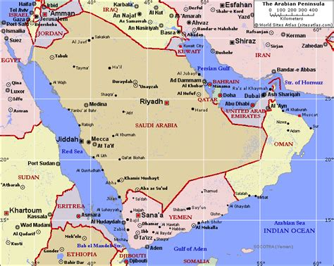 peninsula map arabian peninsula