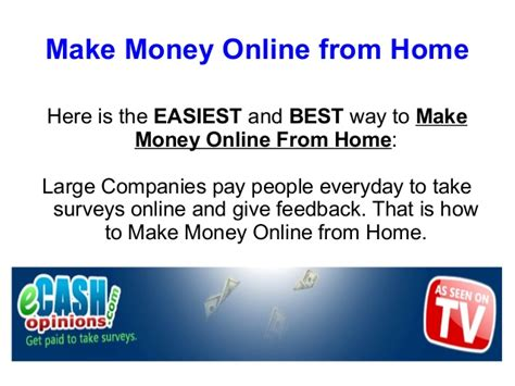 Make Money At Home Online - make money online from home