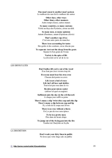 Proverbes en anglais
