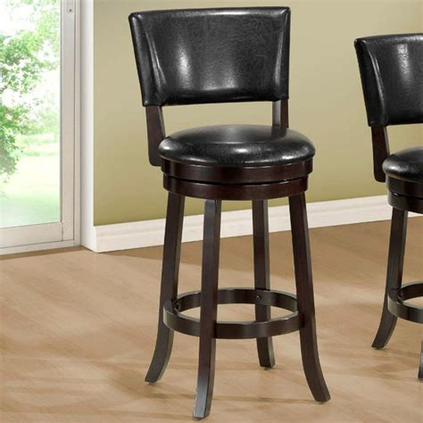 black leather bar stools counter height black leather look 39in h swivel counter height stool
