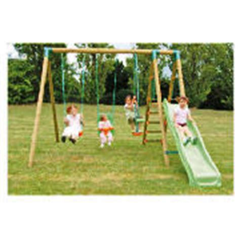 wooden swing and slide set uk bilbao wooden slide and swing set review compare prices
