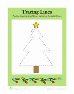 tracing lines christmas worksheet education com