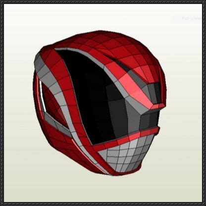 Papercraft Helmet - power rangers dekared s helmet papercraft free template