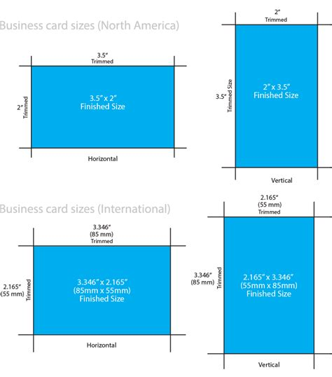 business card template dimensions business card sizes