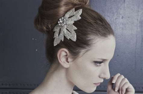 Wedding Hairstyles High Bun by High Bun Wedding Hairstyle With Beaded Vintage Clip