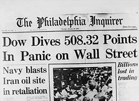 Daily Texan Newspaper Archives Oct 5 1987 1987 stock market crash chart and what caused the crash