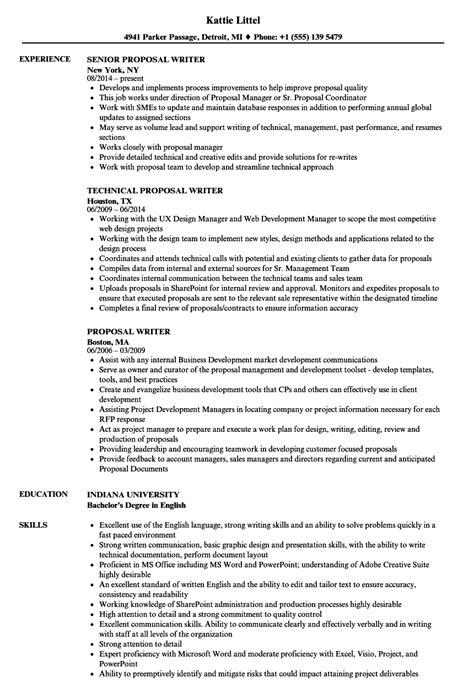 resume templates technical proposal writer exles kijiji