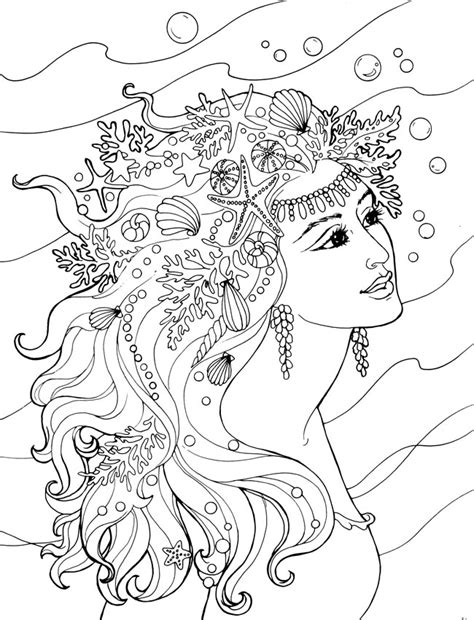 mermaids for adults coloring pages welcome to dover publications ch mermaids coloring