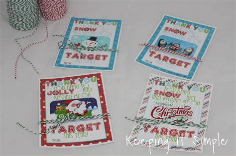 How Much Is On My Gift Card Target - teacher christmas gift idea printable for target gift card keeping it simple crafts