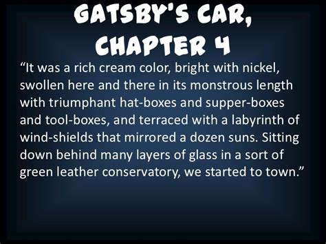 car quotes in the great gatsby