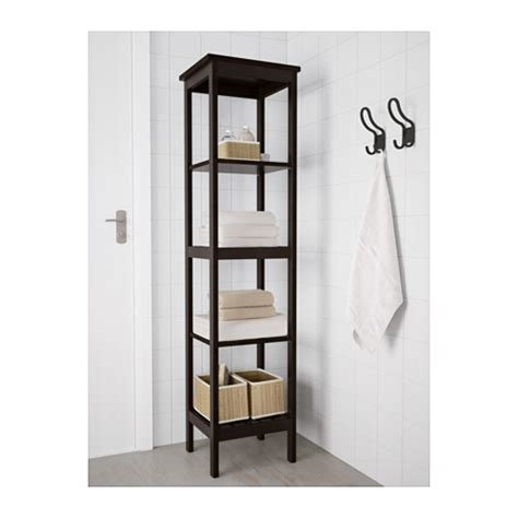 Hemnes Shelving Unit Black Brown Stain 42x172 Cm Ikea Bathroom Shelving Ikea