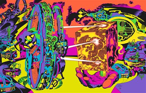 jack kirby lord of light prints jack kirby s psychedelic artwork from the fake movie in