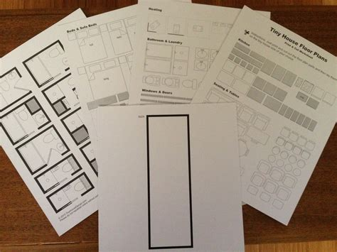 printable house design templates print cut floor plan worksheet tiny house design
