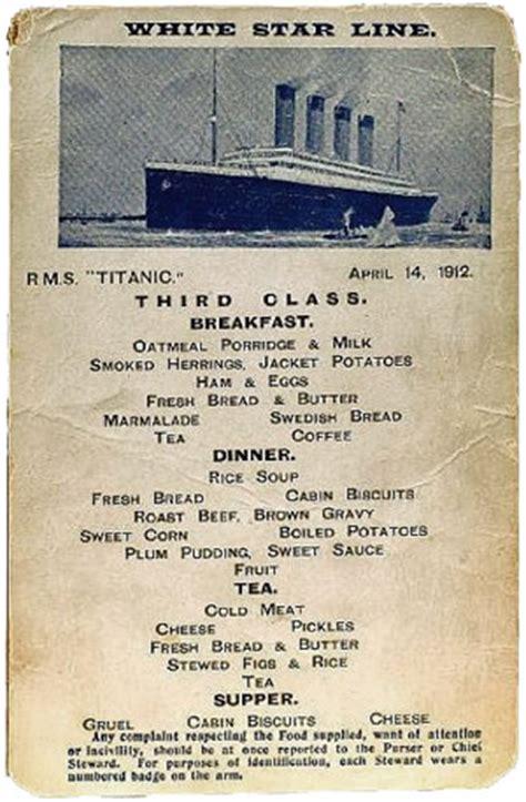 titanic second class menu prime meats to offer ultimate titanic fetishist s fantasy