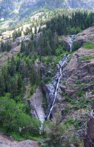waterfalls near ouray, colorado