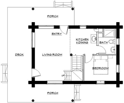 charming montana log cabin with floor plans page 3 of 3