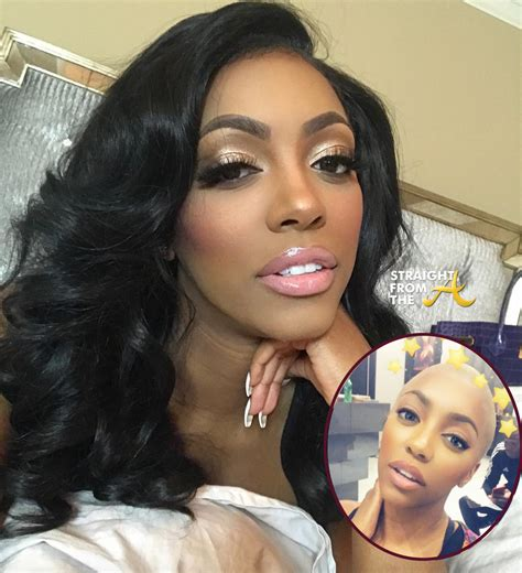 how does porsha william take care of hair instagram flexin rhoa porsha williams goes bald photo