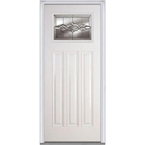 3 Panel Exterior Door Mmi Door 36 In X 80 In Brentwood Left Craftsman 1 4 Lite 3 Panel Classic Primed