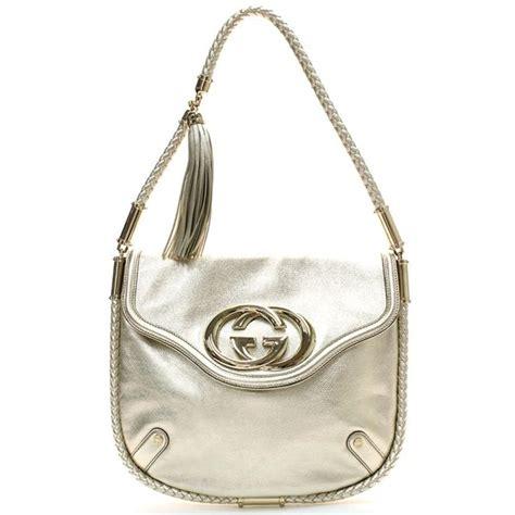 Gucci Gucci Britt Handbag by Gucci Metallic Britt Hobo Bag La Doyenne