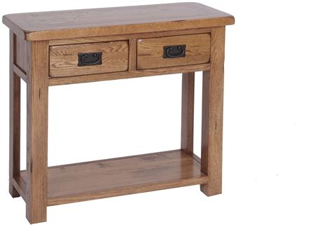 oak sofa table with drawers ridgeway oak 2 drawer console table