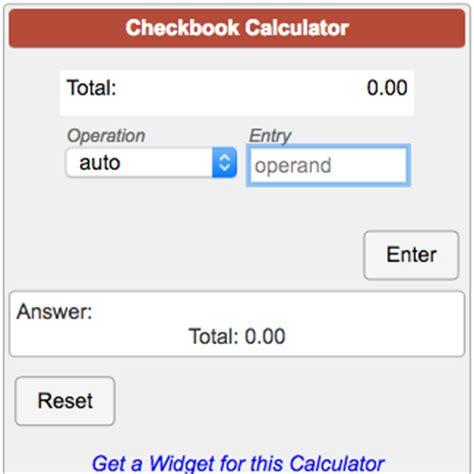 calculator soup checkbook calculator