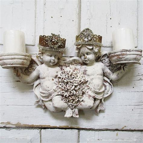 angels home decor cherub candle holder wall sconce with homemade rhinestone