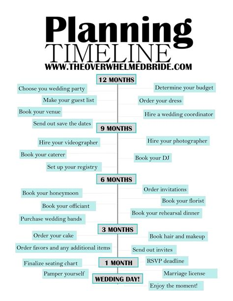 free epic wedding planning printable creative wedding co timeline for planning a wedding wedding