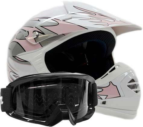motocross helmet goggles kids dot pink flames helmet goggles youth motocross atv