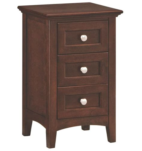 30 Inch Wide Nightstand 18 Inch 3 Drawer Nightstand Bare Wood