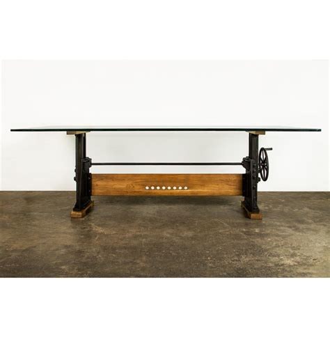 industrial glass dining table dogtown industrial loft cast iron glass dining table kathy kuo home