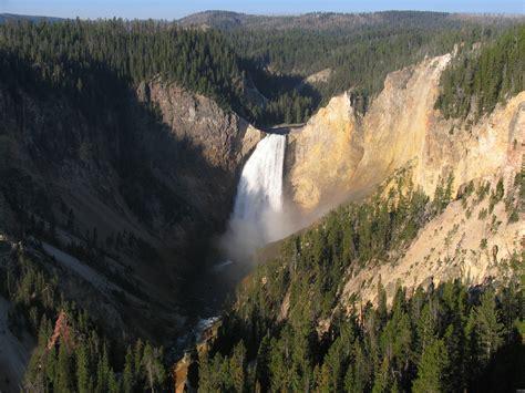 yellowstone lower falls waterfall in yellowstone lower falls of the yellowstone river yellowstone national