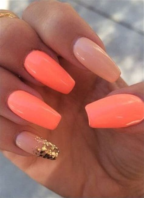 coral color nails best 25 coral acrylic nails ideas on nails